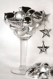 Zilveren het ornamentcocktail van het nieuwjaar Royalty-vrije Stock Afbeeldingen