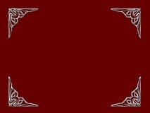 Zilveren hoeken Royalty-vrije Stock Afbeeldingen