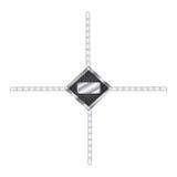 zilveren hulpmiddelen lege waarschuwingen met kettingenpictogram royalty-vrije illustratie