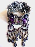 Zilveren jeweleries Stock Foto's