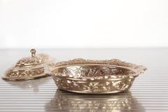 Zilveren juwelendoos Royalty-vrije Stock Fotografie