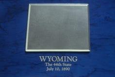 Zilveren Kaart van Wyoming Stock Afbeeldingen