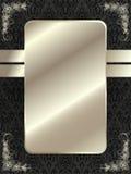 Zilveren kader met bloemenelementen 11 Stock Afbeelding