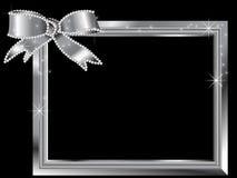 Zilveren kader Stock Fotografie