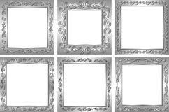 Zilveren kaders Stock Foto's