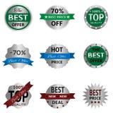 Zilveren kentekens en etiketten Stock Fotografie