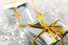 Zilveren Kerstmis Royalty-vrije Stock Foto