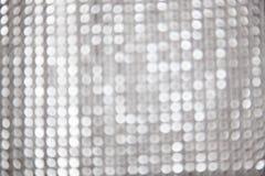 Zilveren Kerstmis bokeh achtergrond stock afbeelding