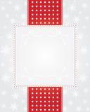 Zilveren Kerstmisachtergrond Stock Afbeelding