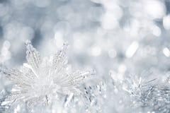 Zilveren Kerstmisachtergrond Stock Foto
