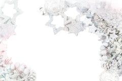Zilveren Kerstmisachtergrond royalty-vrije stock foto