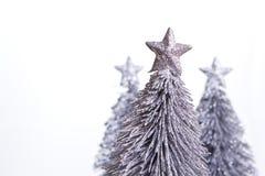 Zilveren Kerstmisdecoratie royalty-vrije stock foto's
