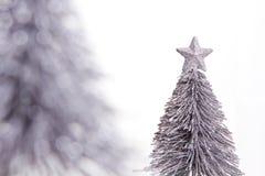 Zilveren Kerstmisdecoratie royalty-vrije stock afbeeldingen
