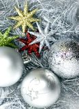 Zilveren Kerstmisdecoratie Royalty-vrije Stock Afbeelding