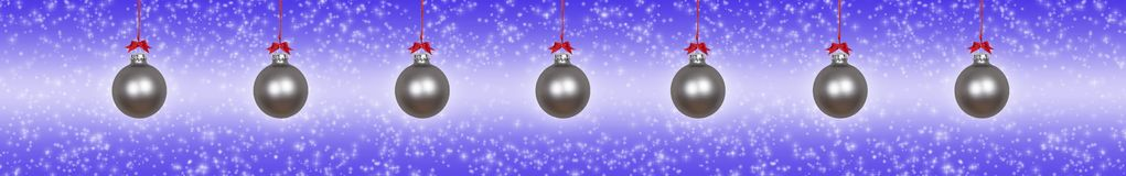 Zilveren Kerstmissnuisterijen royalty-vrije illustratie