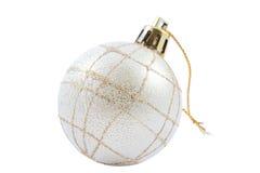 Zilveren Kerstmisstuk speelgoed Royalty-vrije Stock Fotografie
