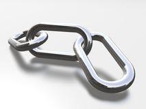 Zilveren ketting Royalty-vrije Stock Fotografie