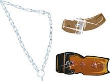 Zilveren ketting en riemen Royalty-vrije Stock Foto's