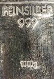 Zilveren 1kg Stock Afbeelding