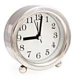 Zilveren klok Royalty-vrije Stock Afbeeldingen