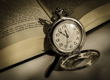 Zilveren klok Royalty-vrije Stock Foto's