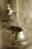 Zilveren klokken Royalty-vrije Stock Afbeelding
