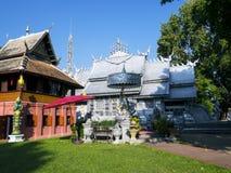 Zilveren klooster in Wat-srisuphan Stock Foto's