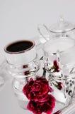 Zilveren koffiereeks Stock Afbeelding