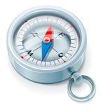 Zilveren kompas Royalty-vrije Stock Afbeelding