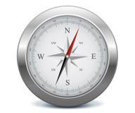 Zilveren kompas Royalty-vrije Stock Foto's