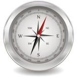 Zilveren kompas Royalty-vrije Stock Afbeeldingen