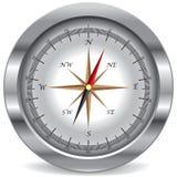 Zilveren kompas Royalty-vrije Stock Foto