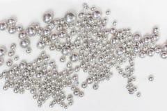 Zilveren Korrels Royalty-vrije Stock Fotografie