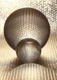 Zilveren kristallen bollen stock afbeelding