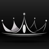 Zilveren kroon Royalty-vrije Stock Foto's