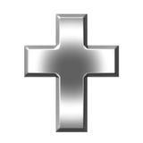 Zilveren Kruis Royalty-vrije Stock Afbeeldingen