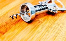 Zilveren kurketrekker Stock Foto's