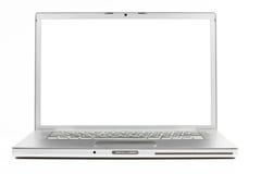 Zilveren laptop Stock Afbeelding