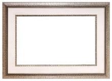 Zilveren leeg kader Stock Fotografie