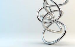 Zilveren lijnen abstracte achtergrond Royalty-vrije Stock Foto