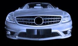 Zilveren luxeauto Royalty-vrije Stock Foto
