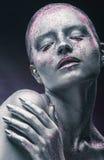 Zilveren make-up royalty-vrije stock foto