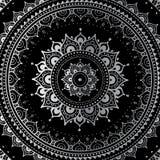 Zilveren mandala Stock Afbeelding