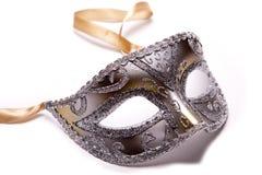 Zilveren masker. Stock Foto's