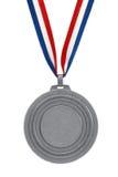 Zilveren medaille Stock Afbeelding