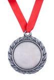 Zilveren medaille Royalty-vrije Stock Afbeelding