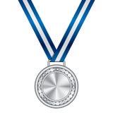 Zilveren medaille Royalty-vrije Stock Afbeeldingen