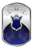 Zilveren Medaillon Royalty-vrije Stock Afbeelding