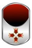 Zilveren Medaillon Stock Afbeelding