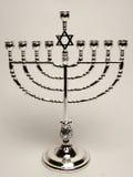 Zilveren menorah Royalty-vrije Stock Fotografie
